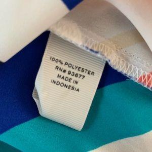 STYLUS Tops - Stylus Striped Bell Sleeve Keyhole Neck Blouse